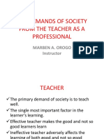 Lesson 3-The Demands of Society from the Teacher as a Professional