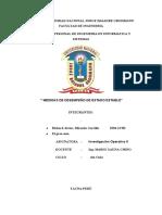 MEDIDAS DE DESEMPEÑO DE ESTADO ESTABLE