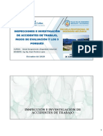Sesión 13 - Inspecciones e Investigaciónes de Accidentes de Trabajo, Pasos de Evaluación y los 5 Porqués