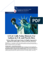 LULAC Calls Today Historic for Latinos in U.S. and Puerto Rico