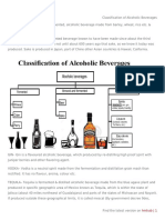 Classification of Alcoholic Beverages