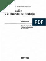 Carton- la educacion y el mundo del trabajo