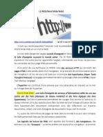 L.13 Lhistoire du WEB. Le langage sur le net