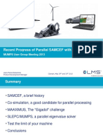 Recent Progress of Parallel SAMCEF with MUMPS
