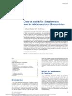 Cœur Et Anesthésie Interférences Avec Les Médicaments Cardiovasculaires