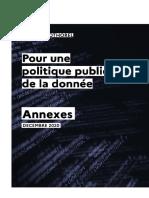 Annexes - Rapport - Pour Une Politique Publique de La Donnée