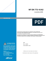 NF EN 772-16A2  砌筑工程的试验方法 第16部分:尺寸确定的修正A2