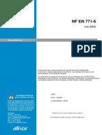NF EN 771-6 砌筑工程 第6部分 自然石砌体单元