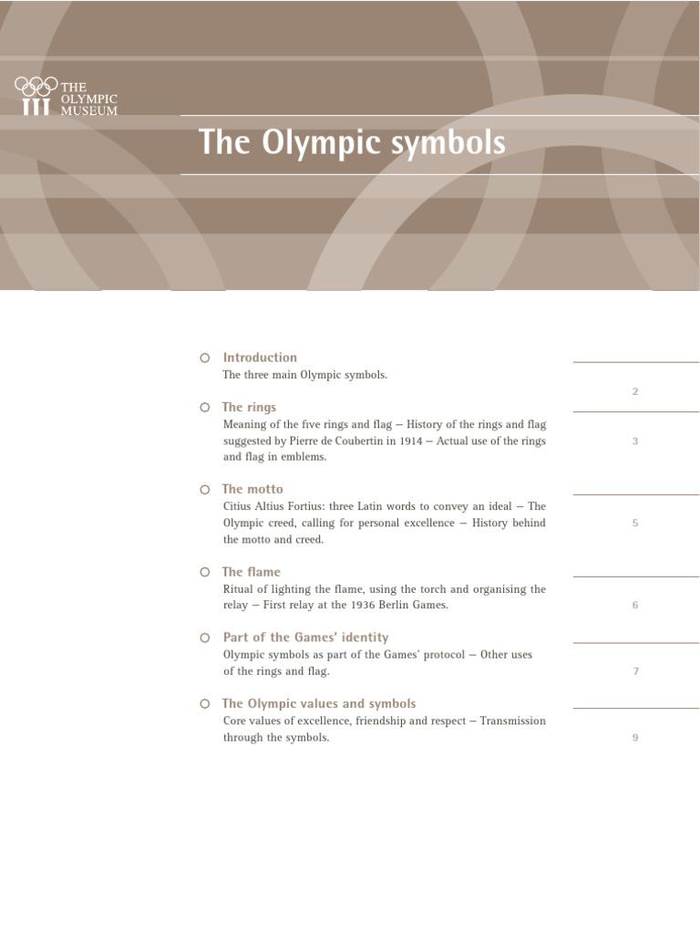 Olympic Symbols Olympic Games Sports Festivals