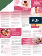 Ayurveda - Massagen und Anwendungen 2021