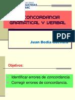 Concordancia gramatical y verbal
