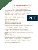 Exercice pour les commandes internes DOS