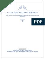 Environmental Management (assignment )