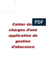 Cahier de charge d'APPLICATION