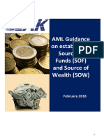 AML Guidance on Establishing Source of Funds and Source of Wealth