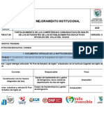 PMI-AT-11 PLAN DE MEJORAMIENTO INSTITUCIONAL - VISITA 9  IE ATENEO