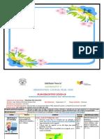 PLANIFICACION NOVENA  SEMANA PREPARATORIA  (NEE)