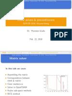 OpenFOAM Matrix Solution