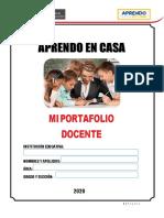 PORTAFOLIO  DOCENTE  APRENDO  EN  CASA  -  2020