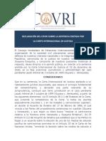 Declaracion COVRI Sobre Sentencia CIJ (1)