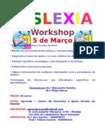 Folheto informativo workshop dislexia