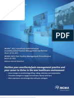 Anesthesia Administration Assembly ConferenceBrochure - MGMA