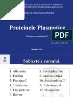 Proteinele plasmatice