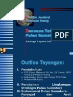 RTR PULAU Sumatra Dirjen Penataan Ruang