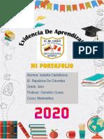 Portafolio de Matemática 3ro de Isabella Castellanos Barros Ccesa007