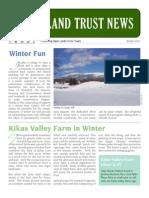 Jericho Underhill Land Trust Winter 2011 Newsletter