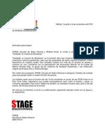 Carta invitación patrocinadores
