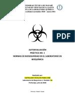 PRACTICA No. 1 NORMAS DE SEGURIDAD. LABORATORIO DE BIOQUÍMICA