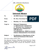 Circular to NRM Chairpersons - Campaign Facilitation for NRM Flag Bearers