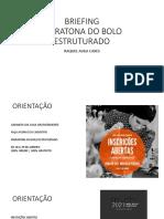 Briefing Maratona Do Bolo Estruturado