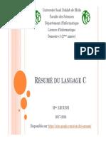 résumé du langage C