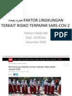 Faktor-faktor Lingkungan Terkait Risiko Terpapar Sars-cov-2