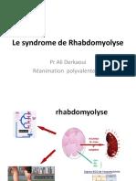 Le syndrome de Rhabdomyolyse