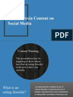 Pro-Anorexia Content on Social Media