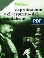 Weber - 1904 - La Ética Protestante y El Espíritu Del Capitalismo (2001)