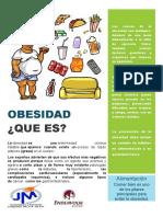 folleto de obesidad