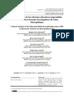 Análisis crítico de las reformas educativas emprendidas 1990.pdf
