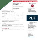 CP5400A Certificat professionnel Structure du BTP