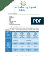 Examen de Logistique et Achats
