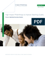 High Impact Philanthropy to Improve Teaching Quality