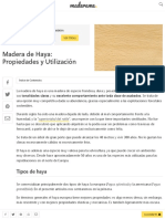 Madera de Haya_ Características y Principales Usos