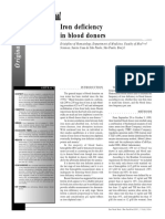 Iron deficiency in blood donors 2001