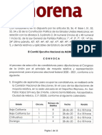 Convocatoria de registro de aspirantes a Diputados federales por Morena 2020