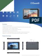 Emdoor Info. EM-Q15  (10.1 inch) Qualcomm Android Rugged Tablet PC Spec.(V20200929)