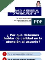 2. Calidad en la Atención al Usuario en el Contexto de la Pandemia COVID-19