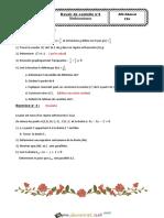 Devoir de Contrôle N°6 - Math - 2ème Sciences (2014-2015) Mr Afli Ahmed